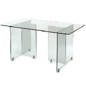 Üveg íróasztal