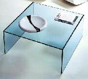 Üveg dohányzóasztal